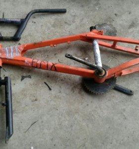 Рама, руль и вилка на BMX