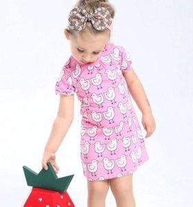 Платье хлопковое новое (рост 104-110см)