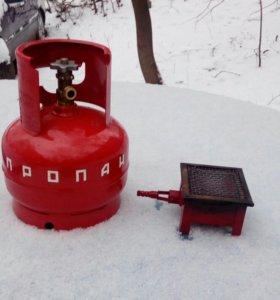 Газовый баллон 5 литров .Без горелки .