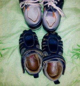 Ботинки на первый шаг 21р-р и босоножки 20р-р