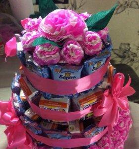 Тортики из сладостей