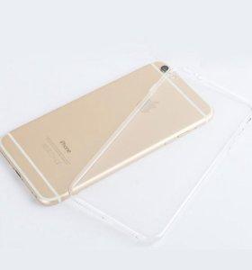 Силиконовые прозрачные чехлы для Iphone 6/7/8/plus