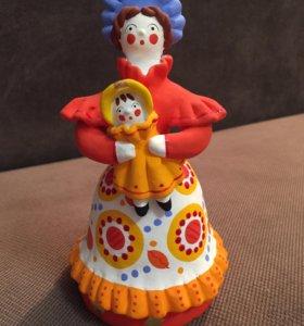 Новая дымковская игрушка Барыня