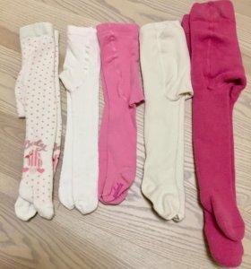 Колготки, майки, носки на девочку до 2 лет