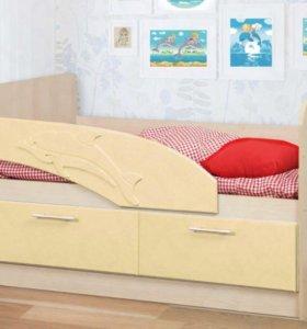 Кровать детская НОВАЯ «Д-1,4»