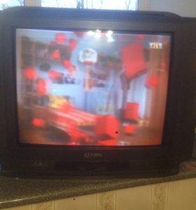 Телевизор Funai+dtv 2приставка