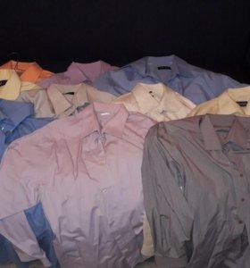 Десять мужских рубашек(цена за все)
