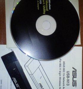 Сетевой адаптер WiFi ASUS USB-N13