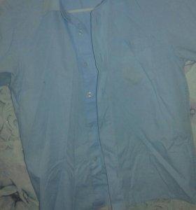 Продаю рубашки по 50руб и туфли возраст 6-7-8 лет