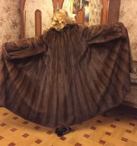 Шуба Saga Mink,superb quality норковая, 3 м.ширина