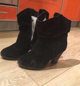 Замшевые ботинки еврозима