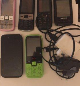 Продам сотовые телефоны.зелёный рабочий почти новы