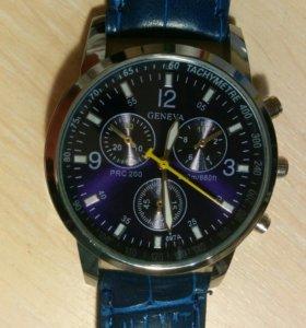 Кварцевые наручные часы Geneva 2015 Blue (новые)