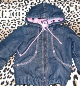 Джинсовая курточка утепленная