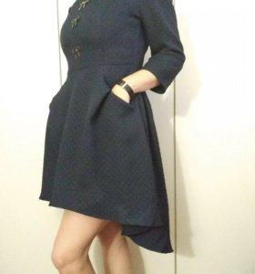 Темно-синие платье