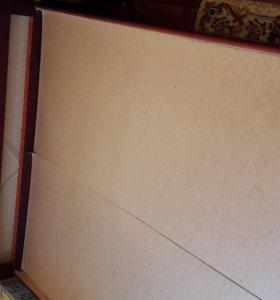 кровать двухспальная с элементами ковки