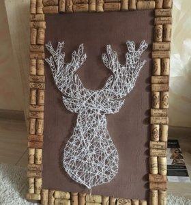 Декоративное панно . Стринг арт . String art