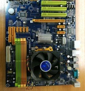 комплект MB Biostar(DDR2) AM2+/ Phenom 9550/Cooler