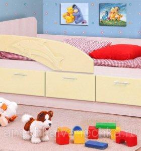 Кровать детская НОВАЯ «Д-2.0» с ящиками!