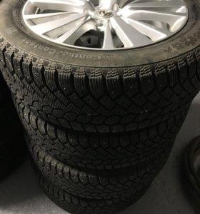 Литые диски Lexus и зимняя резина continental