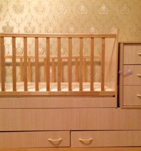 Кровать-трансформер с матрасом