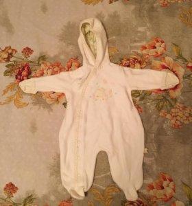 Комбинезон тёплый на новорожденную