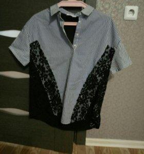 Рубашка zara 42-44