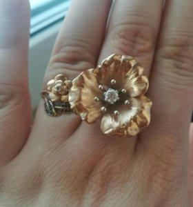 Шикарный кольцо цветок
