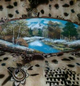 Картина в форме среза дерева 110см