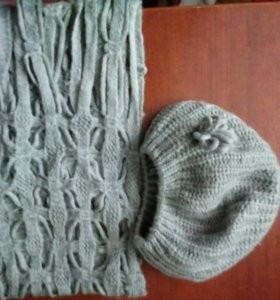 Комплект беретка и шарф