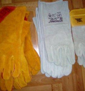 Перчатки хб, краги новые хорошие
