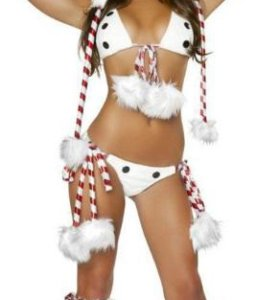 Новогодний секси костюм снеговика.
