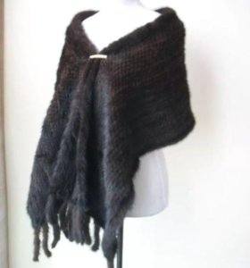 Норковый шарф, палантин