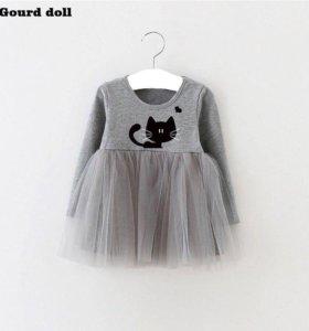 Милое платье для малышек!!!