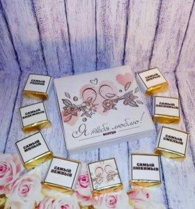 Шокобокс сладкий подарок на 14 февраля