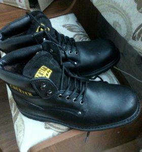 Ботинки курьер кожаные