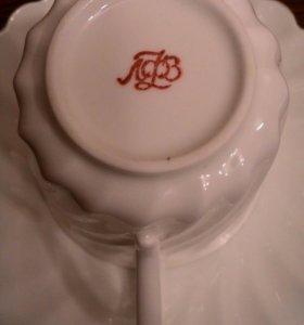Кофейная чашка и блюдце ЛФЗ