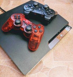 Sony PlayStation 3 Slim Прошитая 2 Геймпада