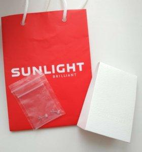Серьги Sunlight, новые