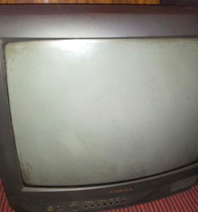 телевизор СОКОЛ рабочий без пульта