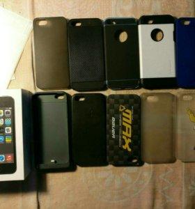IPhone 5s  16GB +2 защитных стекла + 10 чехлов