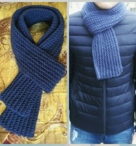 Мужские вязанные шарфы на заказ!
