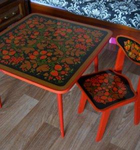 Продам детский стол и стул.