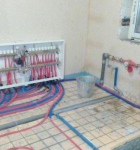 Сантехнические работы, электро-монтажные работы