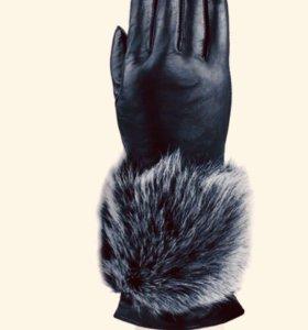 Перчатки новые кожаные Eleganzza