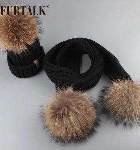 Детский комплект шарф+шапка НОВЫЙ