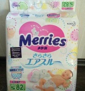 Подгузники Merries S (4-8кг)