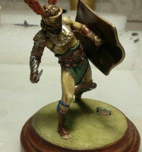 Миниатюра, статуэтка, гладиатор,оловянный солдатик