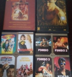 Фильмы DWD диски, 200 шт разные