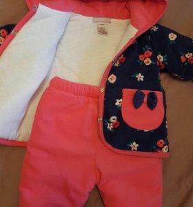 Осенний костюм 6-9 месяцев 100% хлопок